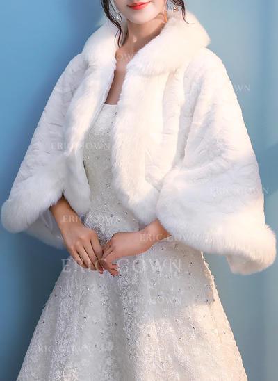 Wrap Wedding Faux Fur Ivory Wraps (013150256)