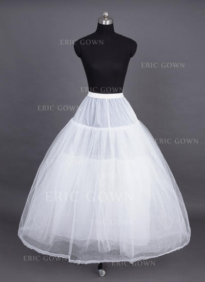 Petticoats Tea-length Nylon/Tulle Netting Ball Gown Slip 4 Tiers Petticoats (037190686)