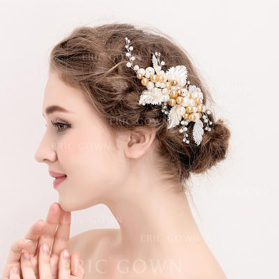 "Hairpins Wedding/Special Occasion/Party Crystal/Alloy/Imitation Pearls 6.89""(Approx.17.5cm) 3.74""(Approx.9.5cm) Headpieces (042157968)"