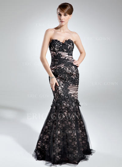 Trumpet/Mermaid Sweetheart Floor-Length Mother of the Bride Dresses With Ruffle (008005942)