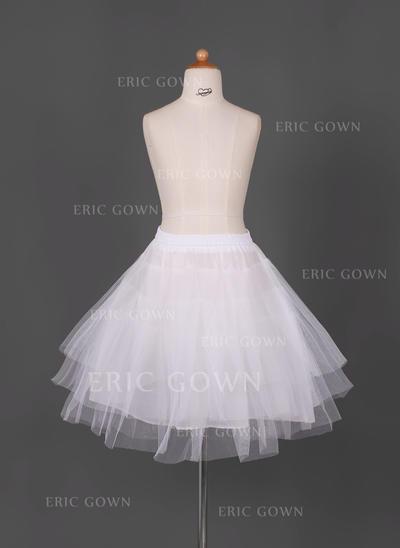 Petticoats Short-length Tulle Netting/Taffeta Full Gown Slip/Flower Girl Slip 3 Tiers Petticoats (037190681)