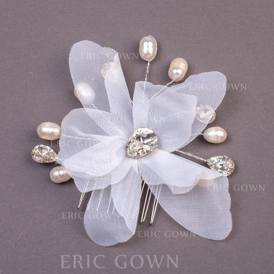 "Combs & Barrettes Wedding/Special Occasion/Party Imitation Pearls/Net Yarn 7.09""(Approx.18cm) 0.78""(Approx.2cm) Headpieces (042155927)"