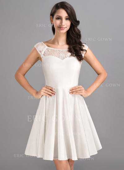 A-Line/Princess Scoop Neck Short/Mini Jersey Homecoming Dresses (022214023)