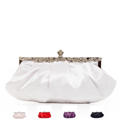 Clutches Wedding/Ceremony & Party Silk Clip Closure Gorgeous Clutches & Evening Bags (012184142)