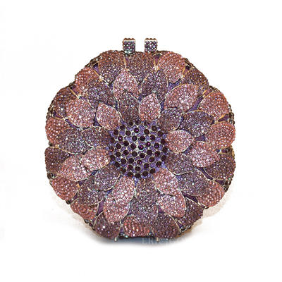 Clutches/Wallets & Accessories/Bridal Purse/Fashion Handbags/Makeup Bags Wedding/Ceremony & Party/Casual & Shopping Alloy Elegant Clutches & Evening Bags (012187847)