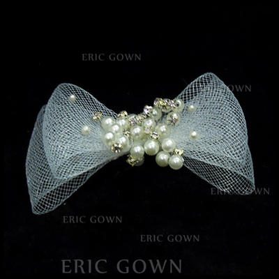 "Combs & Barrettes Wedding/Special Occasion Imitation Pearls/Tulle 3.94""(Approx.10cm) 1.97""(Approx.5cm) Headpieces (042153078)"