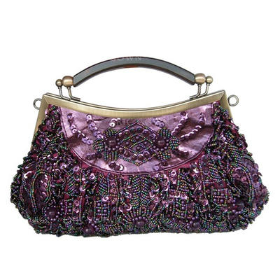 Clutches Ceremony & Party Silk Snap Closure Gorgeous Clutches & Evening Bags (012184064)
