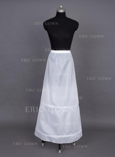 Petticoats Floor-length Nylon A-Line Slip 1 Tiers Petticoats (037190695)