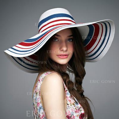Rattan Straw Floppy Hat/Straw Hat Colorful Ladies' Hats (196194120)