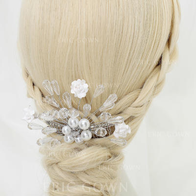 """Combs & Barrettes Wedding/Special Occasion/Party Crystal/Alloy/Imitation Pearls/Ceramic 4.72""""(Approx.12cm) 3.74""""(Approx.9.5cm) Headpieces (042155257)"""