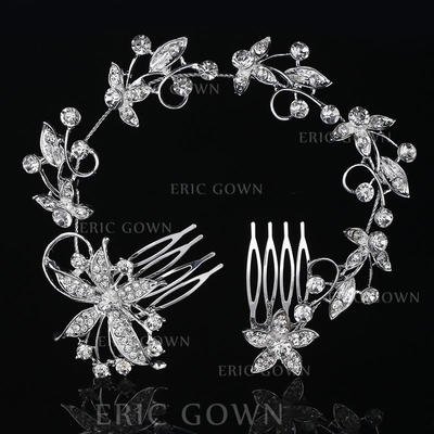 """Combs & Barrettes Wedding/Special Occasion Rhinestone/Alloy 10.63""""(Approx.27cm) 2.37""""(Approx.6cm) Headpieces (042158792)"""