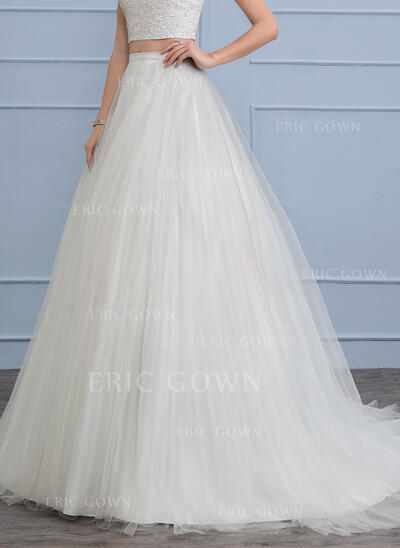 Court Train Tulle Wedding Dress (002112574)