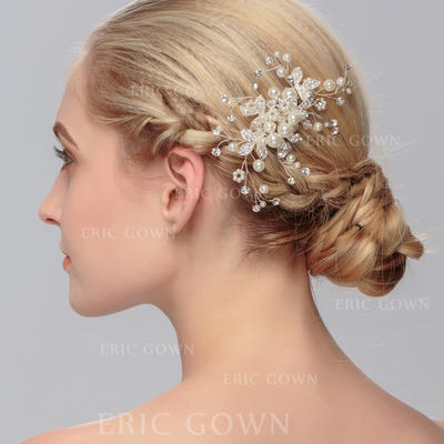 "Combs & Barrettes Wedding/Special Occasion/Party Imitation Pearls 4.53""(Approx.11.5cm) 2.76""(Approx.7cm) Headpieces (042156514)"