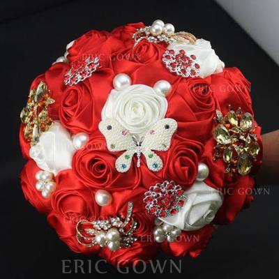 "Bridal Bouquets Round Wedding Satin 10.24""(Approx.26cm) Wedding Flowers (123190166)"