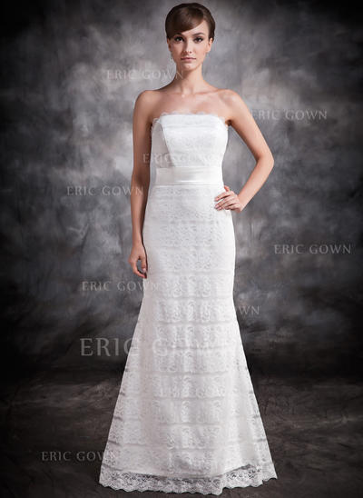 Trumpet/Mermaid Strapless Floor-Length Evening Dresses (017016878)
