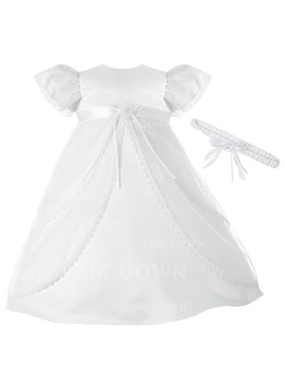 A-Line/Princess Scoop Neck Ankle-length Satin Christening Gowns (2001216863)
