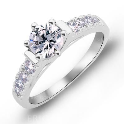 Rings Copper/Zircon/Platinum Plated Ladies' Exquisite Wedding & Party Jewelry (011165384)