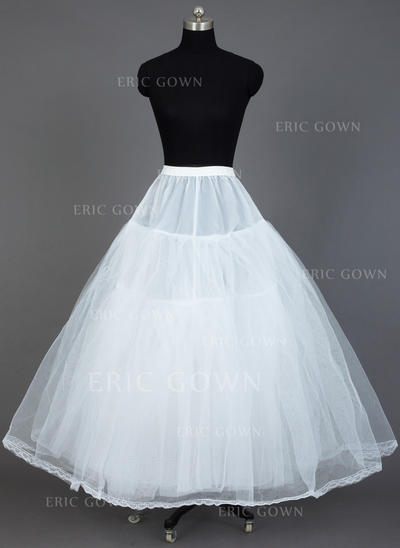 Petticoats Floor-length Tulle Netting/Taffeta Ball Gown Slip 3 Tiers Petticoats (037190712)