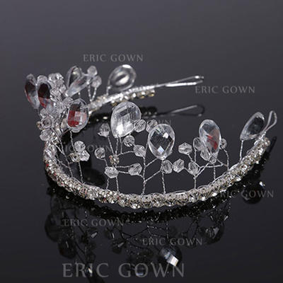 "Tiaras Wedding Crystal 11.8""(Approx.30cm) 1.97""(Approx.5cm) Headpieces (042159019)"