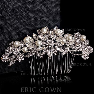 "Combs & Barrettes Wedding Alloy/Silver Plated 4.72""(Approx.12cm) 2.17""(Approx.5.5cm) Headpieces (042155847)"