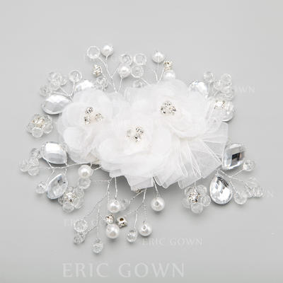 "Combs & Barrettes Wedding/Special Occasion/Party Alloy/Imitation Pearls 5.71""(Approx.14.5cm) 5.31""(Approx.13.5cm) Headpieces (042154842)"
