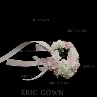 "Wrist Corsage Round Wedding/Party Paper 4.72""(Approx.12cm) Wedding Flowers (123188282)"