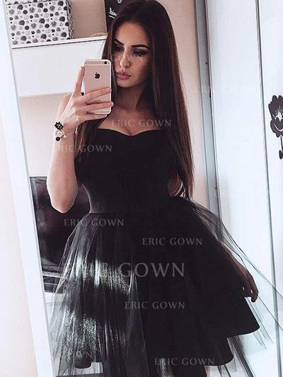 A-Line/Princess Sweetheart Short/Mini Homecoming Dresses With Ruffle (022212425)