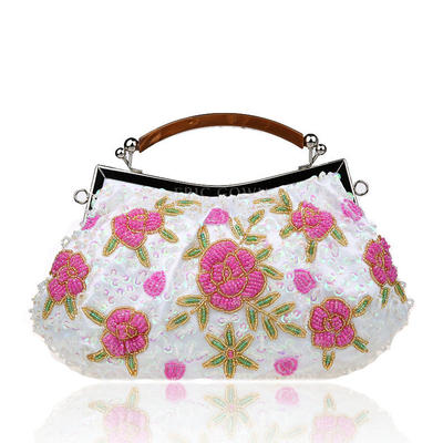 Elegant Spets Grepp/Handledsväskor/Totes väskor/Brudväska/Mode handväskor/Makeup Väskor/Lyx Bag (012141839)