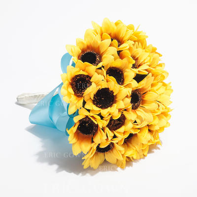 "Bridesmaid Bouquets Round Wedding Satin 8.66""(Approx.22cm) Wedding Flowers (123188199)"