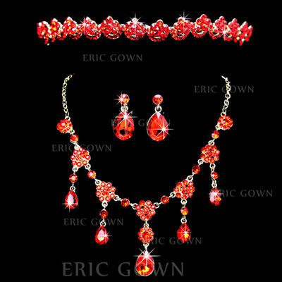 Jewelry Sets Alloy Rhinestone Lobster Clasp Earclip Wedding & Party Jewelry (011161012)