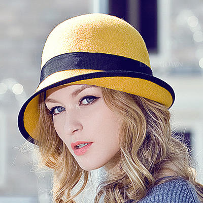 Wool Bowler/Cloche Hat Beautiful Ladies' Adjustable Hats (196195238)