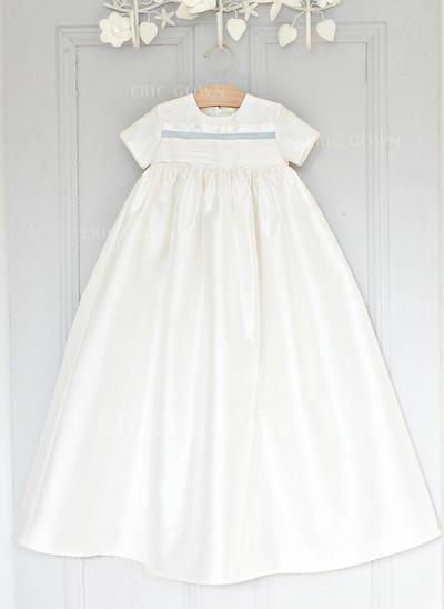 A-Line/Princess Scoop Neck Floor-length Satin Christening Gowns (2001216812)