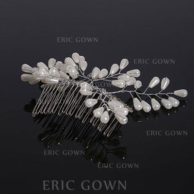 """Combs & Barrettes Wedding Imitation Pearls 3.94""""(Approx.10cm) 3.54""""(Approx.9cm) Headpieces (042158999)"""