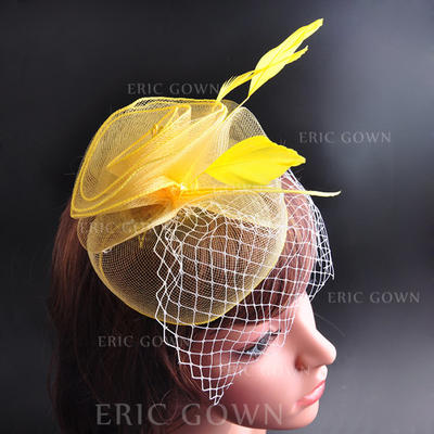 "Hats Wedding/Special Occasion/Party Feather/Cotton 7.09""(Approx.18cm) 7.09""(Approx.18cm) Headpieces (042155452)"