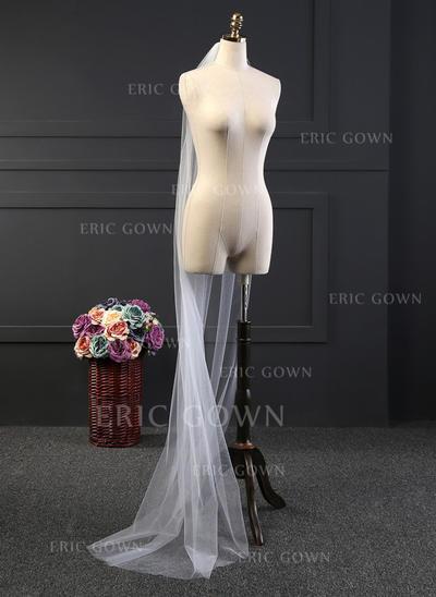 Chapel Bridal Veils Tulle One-tier Drop Veil With Cut Edge Wedding Veils (006152185)