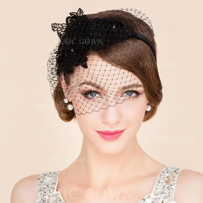 Net Yarn Fascinators Beautiful Ladies' Hats (196194052)