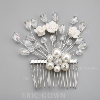"""Combs & Barrettes Wedding/Special Occasion/Party Alloy/Imitation Pearls 3.94""""(Approx.10cm) 3.94""""(Approx.10cm) Headpieces (042154312)"""