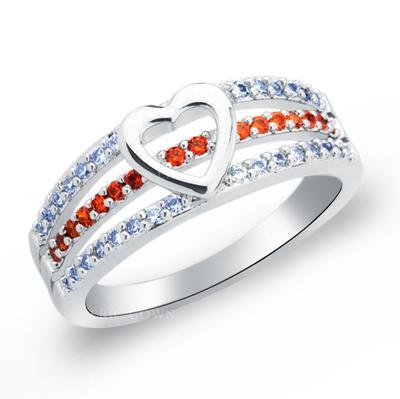 Rings Copper/Zircon/Platinum Plated Ladies' Eternal Love Wedding & Party Jewelry (011165417)