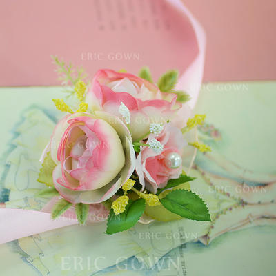 "Wrist Corsage Wedding/Party Satin/Cotton/Ribbon 1.18""(Approx.3cm) 2.76""(Approx.7cm) Wedding Flowers (123190056)"