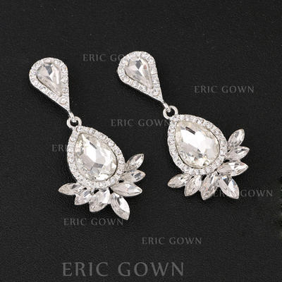 Earrings Alloy/Rhinestones Pierced Ladies' Beautiful Wedding & Party Jewelry (011167301)