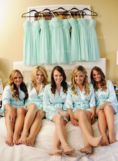 A-Line/Princess Sweetheart Knee-Length Bridesmaid Dresses With Ruffle (007212231)