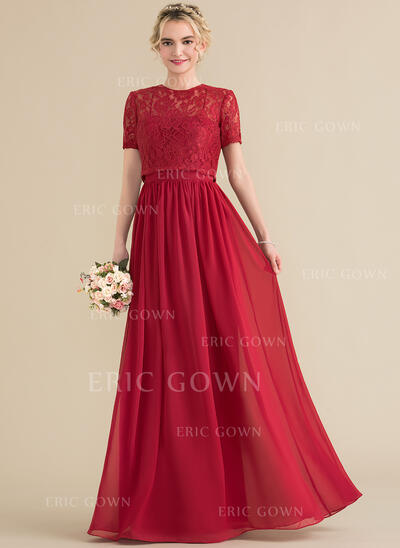 A-Line/Princess Sweetheart Floor-Length Chiffon Evening Dress (017164916)