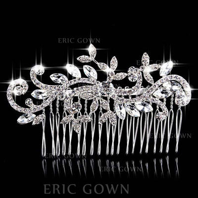 """Combs & Barrettes Wedding/Special Occasion/Party Rhinestone/Alloy 3.94""""(Approx.10cm) 2.36""""(Approx.6cm) Headpieces (042156952)"""