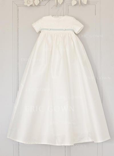 A-Line/Princess Scoop Neck Floor-length Satin Christening Gowns (2001216811)