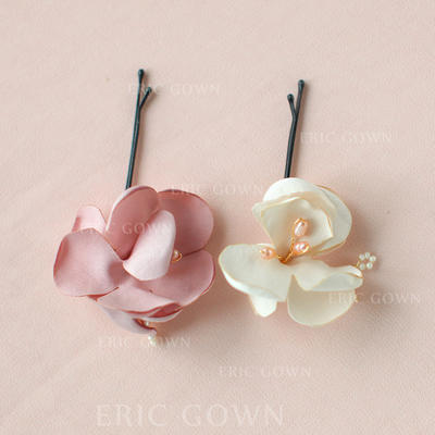 "Combs & Barrettes Wedding/Special Occasion/Party/Carnival Alloy/Satin 3.15""(Approx.8cm) 1.57""(Approx.4cm) Headpieces (042156308)"