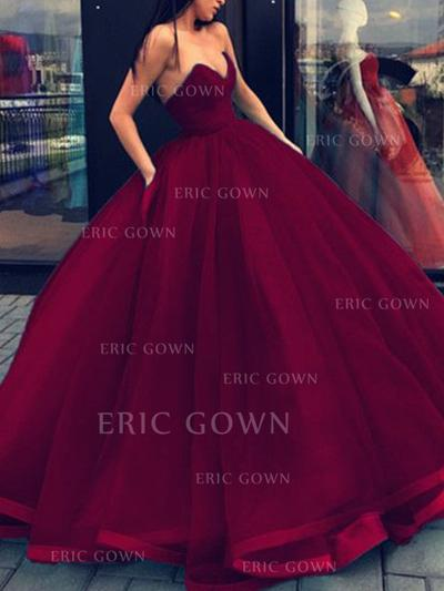 Ball-Gown Sweetheart Floor-Length Evening Dresses (017217817)