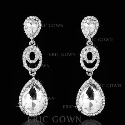 Earrings Rhinestones Pierced Ladies' Elegant Wedding & Party Jewelry (011166653)