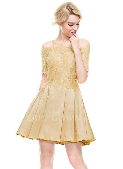 A-Line/Princess Sweetheart Short/Mini Homecoming Dresses (022214095)