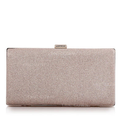 Clutches/Bridal Purse Ceremony & Party/Casual & Shopping/Office & Career Polyester/Alloy Clip Closure Fashional Clutches & Evening Bags (012186358)