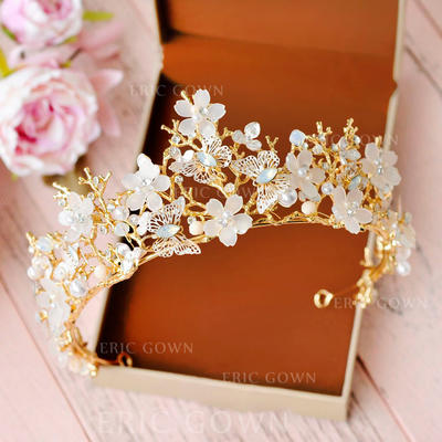 """Tiaras Wedding/Special Occasion/Party Crystal/Rhinestone/Alloy/Imitation Pearls 2.56""""(Approx.6.5cm) 5.51""""(Approx.14cm) Headpieces (042158953)"""